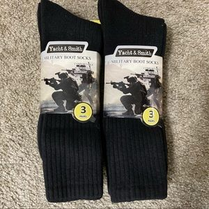 Yacht & Smith Two 3 Packs Military Boot Socks